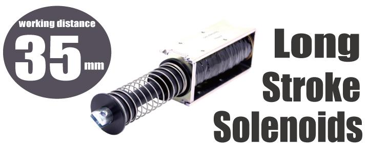 Long stroke solenoids: working distance 35mm