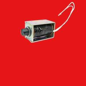 Open frame pull solenoid