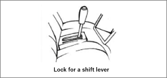 lock for a shift lever